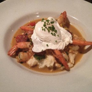 Shrimp & grits at Old Vinings Inn