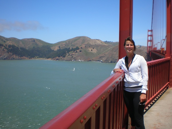 Krista on the Golden Gate Bridge