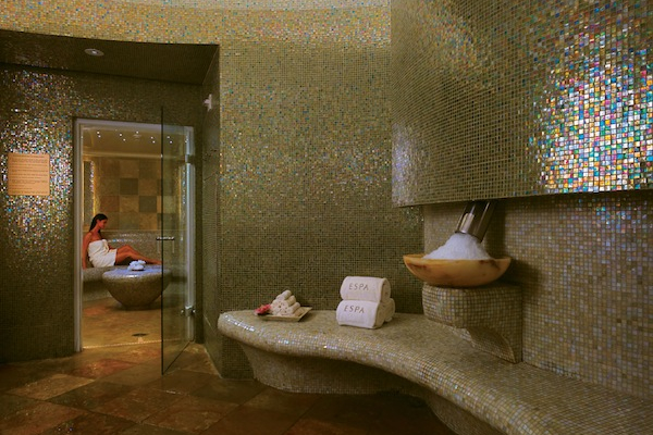 Steam room at Acqualina. Photo credit: Corey Weiner, Red Square, Inc.