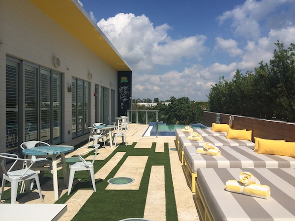 The rooftop of South Beach's new Vintro Hotel & Kitchen
