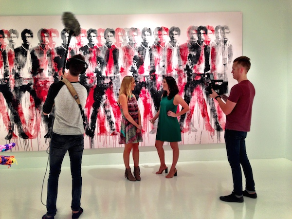 Filming at the Robert Fontaine Gallery with Visit Florida