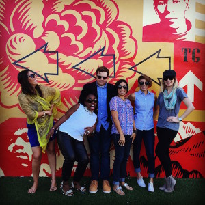 Go your own way! From L-R: Me & some of Miami's finest freelance writers Sarah Greaves-Gabadon, Alex Britel, Yined, Liana Lozada and Kara Franker.