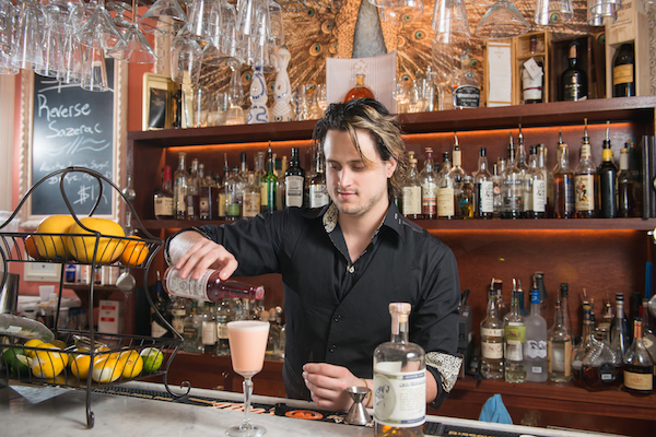 Head bartender Tim Rabior at The Other Side.