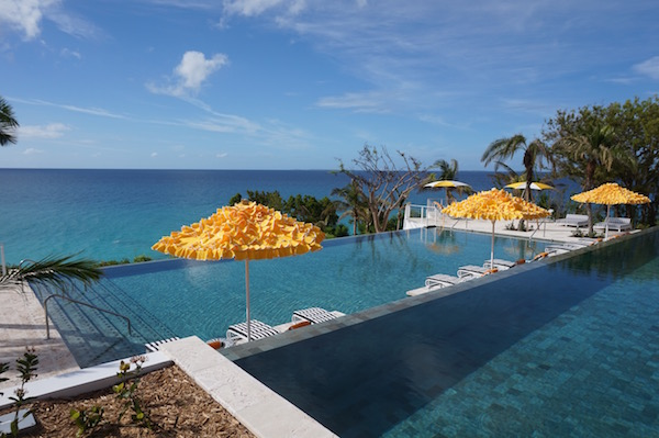 The dreamy, tiered infinity pools at Malliouhana.