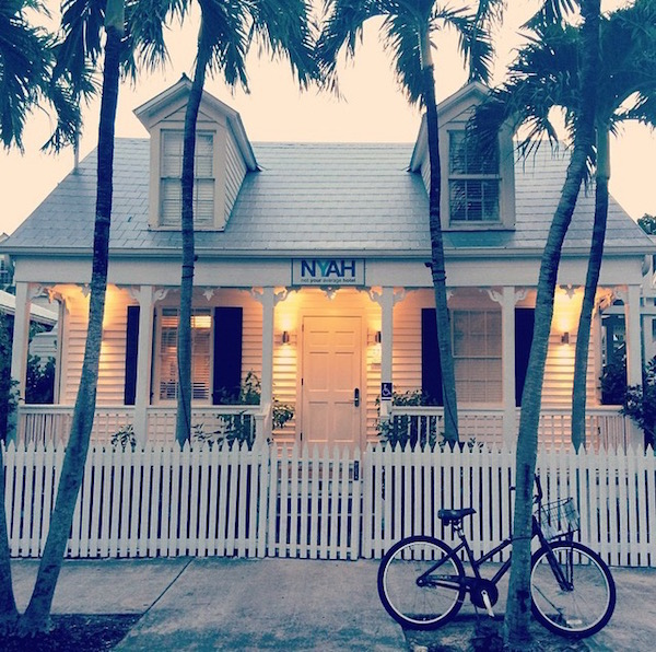 Conch cottage & beach cruiser at NYAH.
