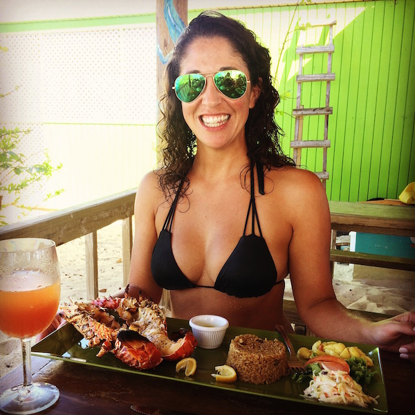 All about that lobster BBQ and rum punch at Sandy Island.