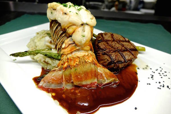 Surf and turf at the Green Turtle Inn. Photo courtesy of Green Turtle Inn.