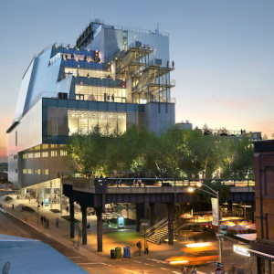 The new Whitney designed by Renzo Piano on Gansevoort Street in New York's Meatpacking District. Photo by Ed Lederman.