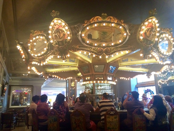 Getting loopdy-loop on that Carousel Bar at Hotel Monteleone where we stayed.