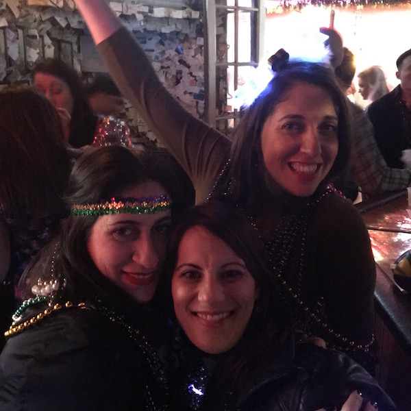 Lisa, Krista & me loving life at Lafitte's after catching a parade on Canal Street.