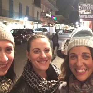 Lisa, Krista & me in between bars on the streets of New Orleans.